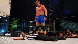 jake hager suspended aew storyline hitting referee fyter fest