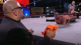 taz towel brian cage jon moxley fight for the fallen aew