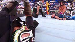 dominik mysterio loses summerslam seth rollins rey video