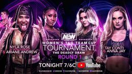 nyla rose responds criticism aew women's tag team tournament deadly draw youtube