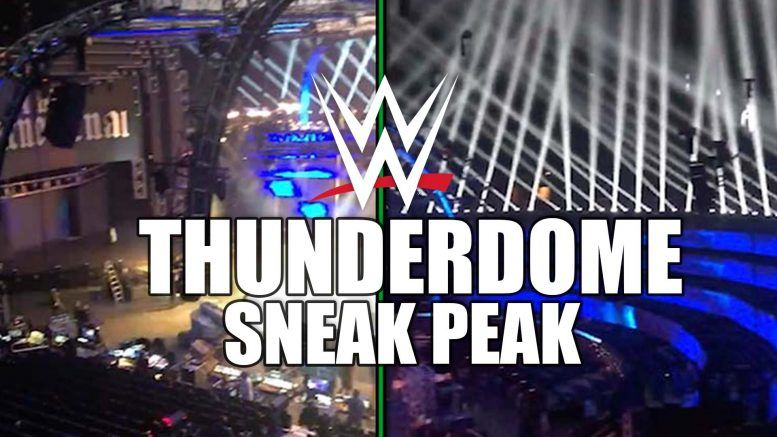 wwe thunderdome new set video being built amway center orlando smackdown
