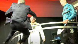 vince mcmahon jump platform wrestlemania rob gronkowski