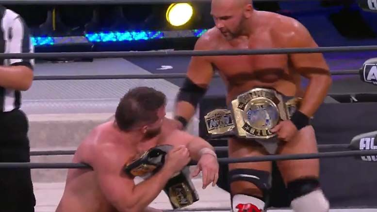 ftr win aew tag team titles all out